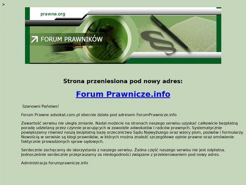 Forum Prawników :: bezpłatne porady prawne
