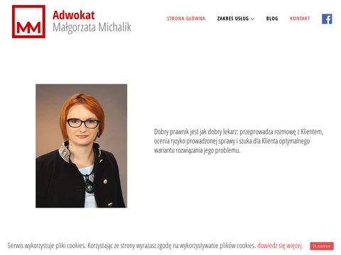 Adwokat Nowy S膮cz, Prawnik Nowy S膮cz, Ma艂gorzata Michalik