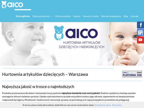 I. i A. Zi贸艂kowscy Aico Trade International dystrybutor artyku艂贸w dzieci臋cych