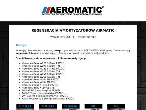 Regeneracja zawieszenia pneumatycznego Airmatic Mercedes Benz BMW Audi - aeromatic.pl