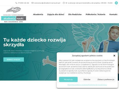 Zaj臋cia i kursy dla dzieci - Akademia Nauki Rzesz贸w