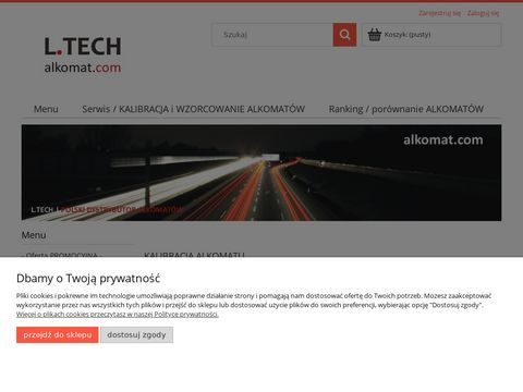 Alkomat, Alkomaty - Sklep internetowy firmy L.TECH - Alkomat, Alkomaty