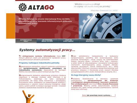 ALTAGO - ERP, oprogramowanie dedykowane, systemy automatyzacji pracy, Wrocław