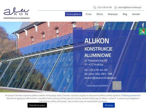 Www.alukon.krakow.pl konstrukcje aluminiowe