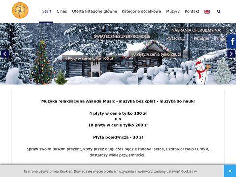 Witamy na Witrynie internetowej Ananda Music