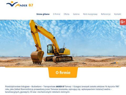 ANDER 87 Budowa sieci kanalizacji deszczowej Poznań