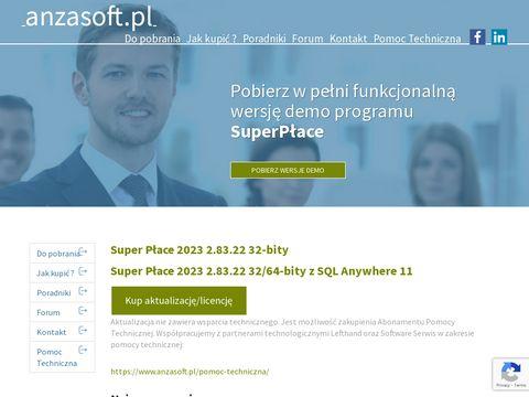 Program kadrowy i płacowy SuperPłace firmy Anzasoft