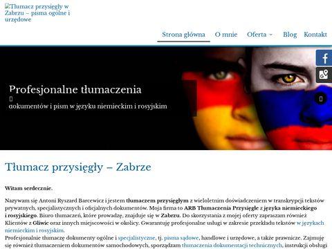 ARB Tłumacz rosyjski zabrze
