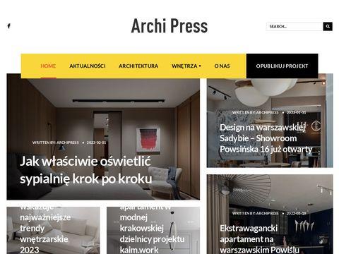 Architektura, arana偶cje wn臋trz, d.i.y. lifestyle : Archipress.pl