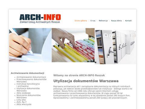 Arch-Info. Zakład Usług Archiwalnych