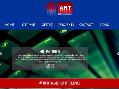 WWW ART usługi informatyczne projektowanie i hosting stron internetowych