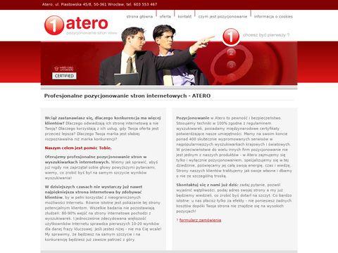 Pozycjonowanie stron internetowych - ATERO