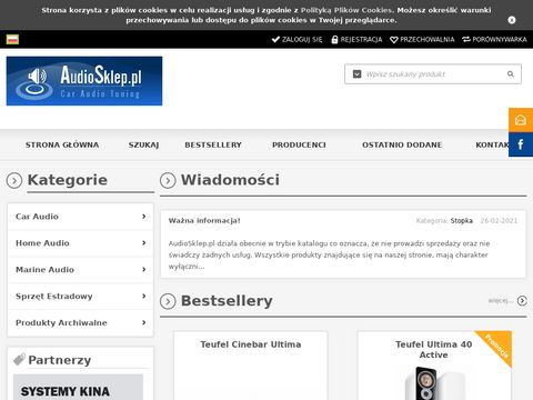 AudioSklep - Radia Samochodowe, Wzmacniacze, Subwoofery, Tuby.