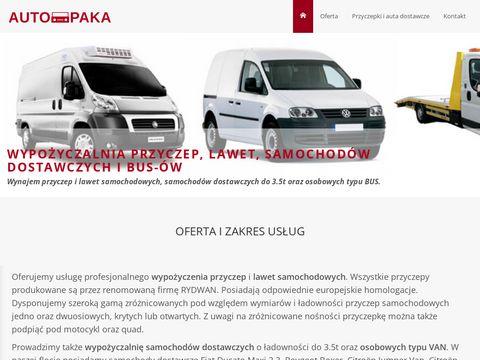 Wypo偶yczalnia przyczep, Aut dostawczych - Tczew