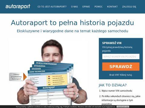 Sprawdzenie VIN - Autoraport.pl