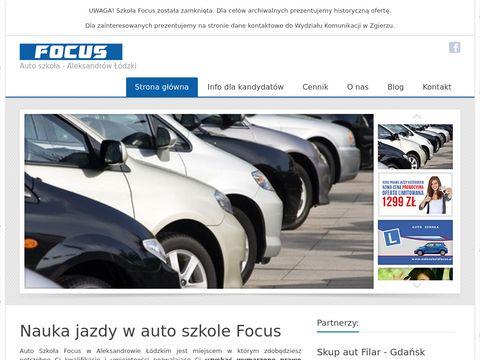 Auto Szkoła Focus - Nauka Jazdy Aleksandrów �ódzki