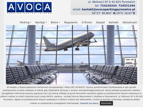 Parking przy lotnisku w Pyrzowicach - Avoca