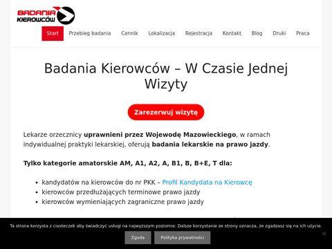 Badania Kierowc贸w Warszawa - W Czasie Jednej Wizyty.