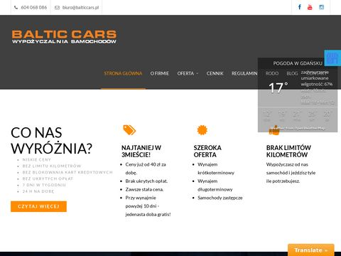 BALTICCARS Wypożyczalnia samochodów osobowych Gdynia