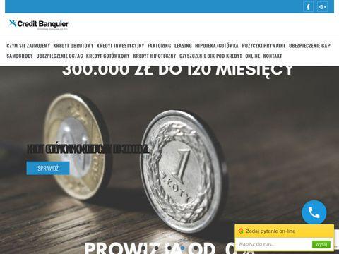 CREDIT BANQUIER - kredyty inwestycyjne dla firm na start