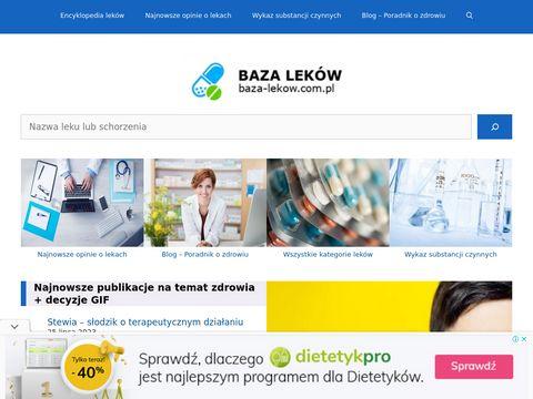 Baza Lek贸w - ulotki do lekarstw