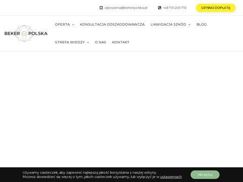 Skup szk贸d komunikacyjnych - Beker Polska