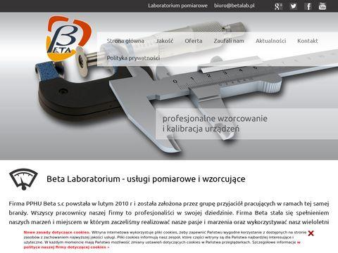 Laboratorium wzorcujÄ…ce : BetaLab.pl