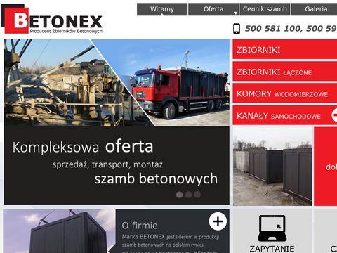 Szamba betonowe szambo z gwarancjÄ… producenta BETONEX