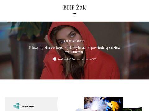 Artykuły bhp, ubrania, odzież robocza i ochronna - sklep ŻAK