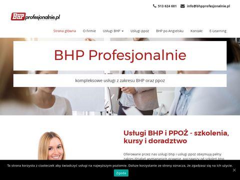Szkolenia bhp Warszawa profesjonalnie