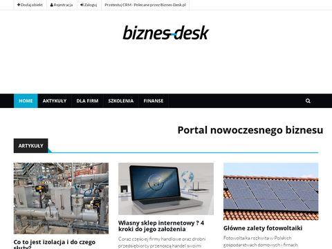 www.biznes-desk.pl, Portal dla firm, szkolenia
