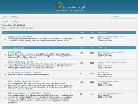 Budowa domu forum - budowa-info.pl
