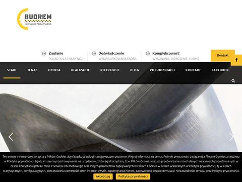 Mechanika Przemysłowa - Budrem | Pióra do przenośników ślimakowych, chwytaki, czerpaki
