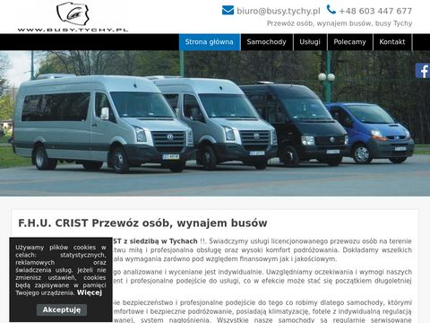 F.H.U Crist - Przewóz osób, wynajem busów Tychy, usługi transportowe Tychy