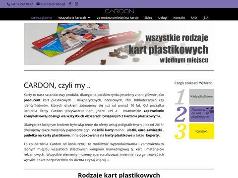 Cardon - Karty plastikowe, magnetyczne, rabatowe, zbliżeniowe i chipowe