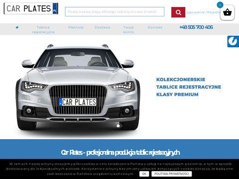Carplates.pl Niemcy tablice rejestracyjne