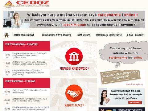 Http://www.cedoz.pl | kurs ksi臋gowego