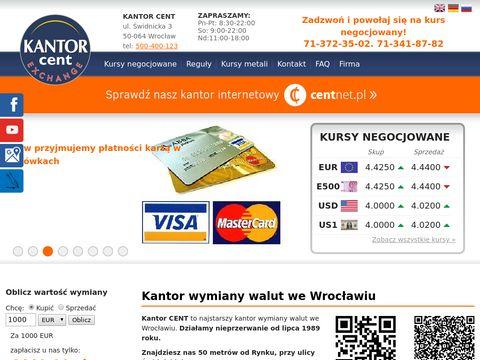 CENT Kantor walutowy Wrocław