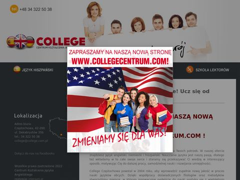 Hiszpański Częstochowa metodą Espanol Directo oferuje College.