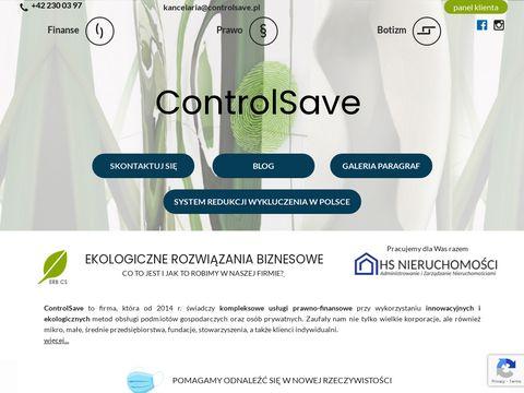 ControlSave - ksi臋gowo艣膰, prawo, podatki, biuro rachunkowe online