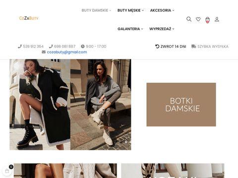 Strona CoZaButy - znajdziesz tu modne kolekcje obuwia damskiego.