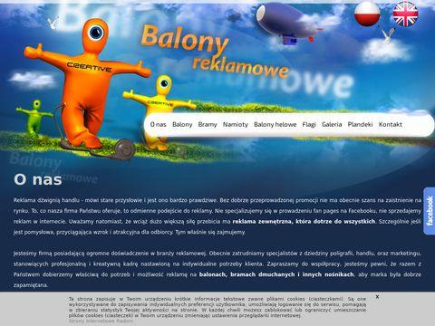 Balony reklamowe, namiot reklamowy - Creative