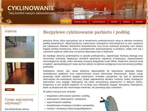 Cyklinowanie Warszawa