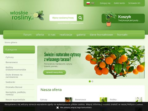 Sklep z ro艣linami i drzewkami cytrusowymi - Cytrusy.com.pl