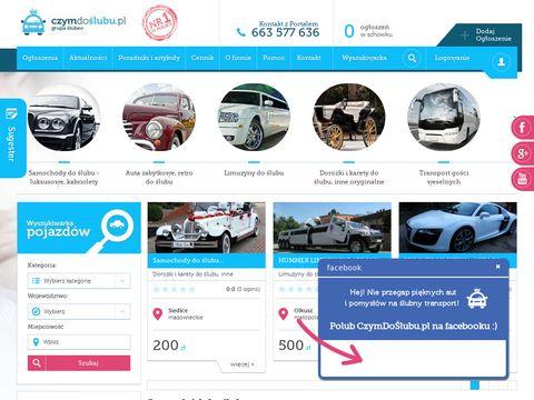 Czymdoslubu.pl - limuzyny na 艣lubu
