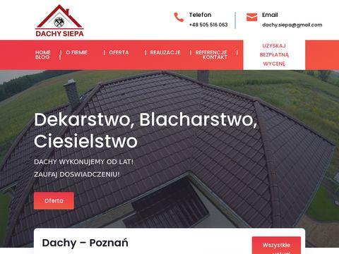 Dachy Poznań - Siepa - dekarstwo, ciesielstwo, blacharstwo