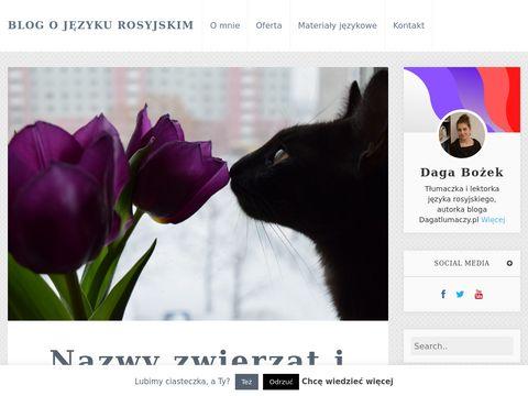 Tłumaczenia z rosyjskiego - strona o tłumaczeniach