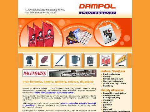 Gadżety reklamowe, długopisy, flagi - DAMPOL