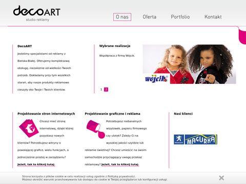 DecoArt - Studio Grafiki Komputerowej, druku i reklamy w Bielsku Białej