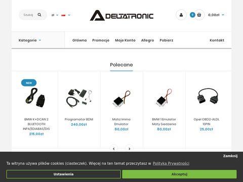 Deltatronic.pl - Urz膮dzenia do diagnostyki i serwisowania elektroniki samochodowej